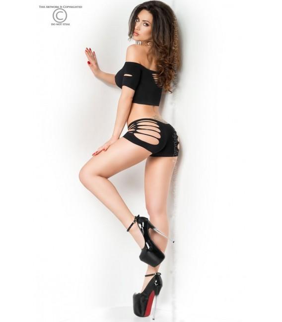 Top + Shorts CR3779 schwarz Bild 4