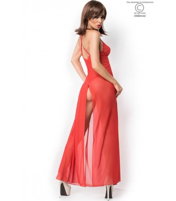 Langes Babydoll CR3883 rot Bild 2 Großbild