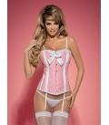 Dottie Corsage rosa/weiß