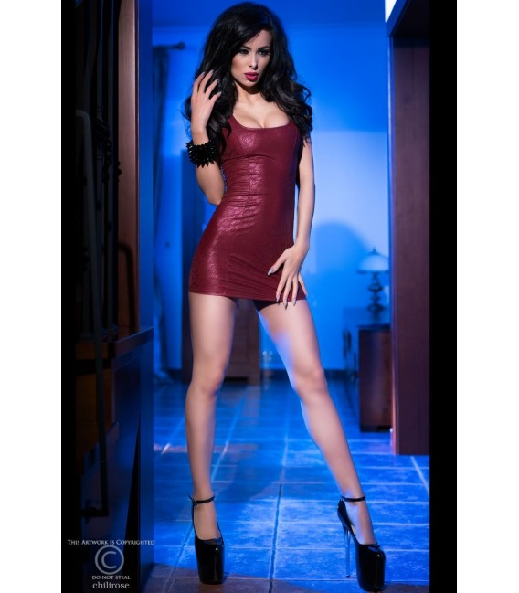 Minikleid CR4018 bordeaux Bild 3