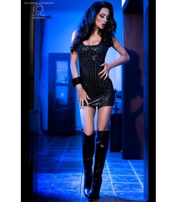 3D-Minikleid CR4016 schwarz Bild 3