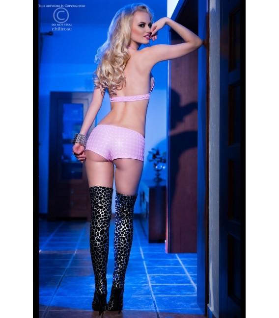 Top + Shorts CR4017 pink Bild 4