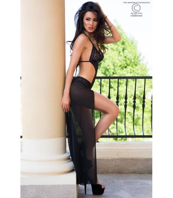 Body Gown CR4068 schwarz/pink Bild 3 Großbild