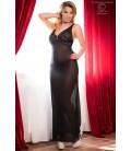 Langes Kleid CR4065 schwarz/pink