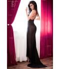 Langes Kleid CR4064 schwarz/pink Bild 2
