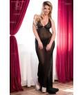 Langes Kleid CR4064 schwarz/pink Bild 4