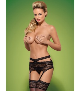 Swanita Garter Belt & String schwarz