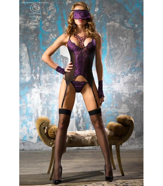 Corsagen-Set schwarz/violett CR4077 Bild 3 Großbild