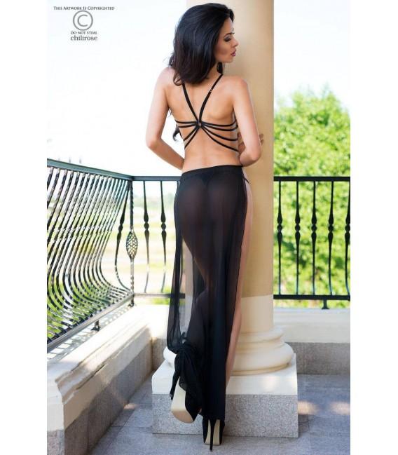 Langes Kleid CR4085 schwarz Bild 2