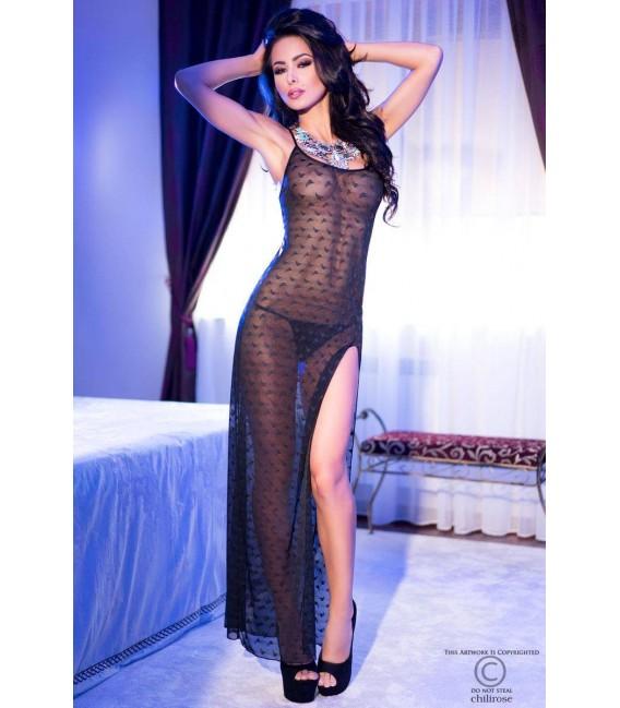 Langes Kleid CR4086 schwarz Großbild
