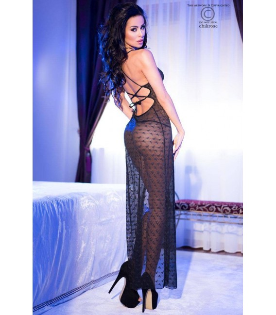 Langes Kleid CR4086 schwarz Bild 2