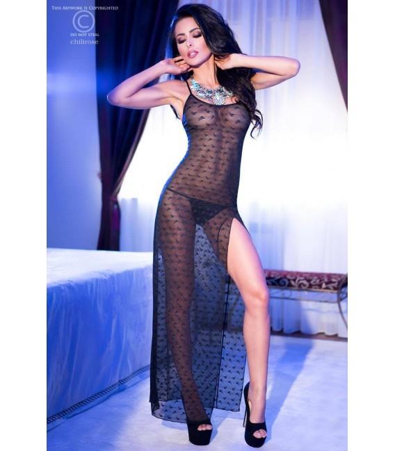 Langes Kleid CR4086 schwarz Bild 3