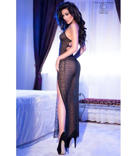 Langes Kleid CR4086 schwarz Bild 4 Großbild