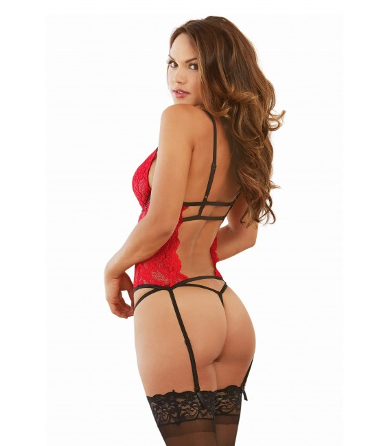 Bustier DR10561 red Bild 4