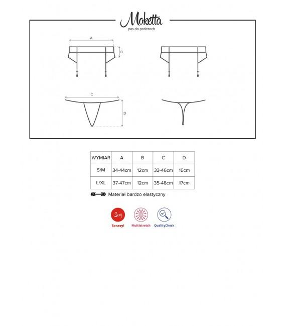 Moketta Garter Belt & Thong Bild 7