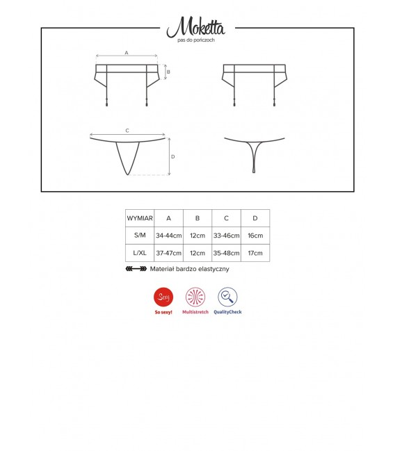 Moketta Garter Belt & Thong Bild 7 Großbild