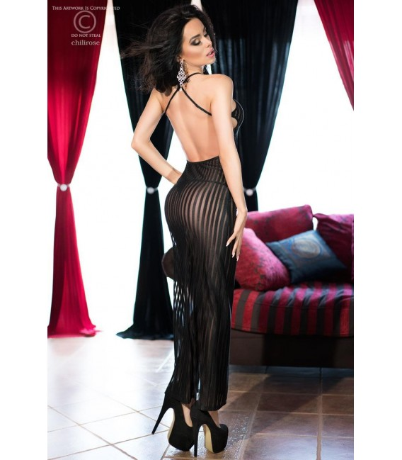 Langes Kleid CR4137 schwarz Bild 2