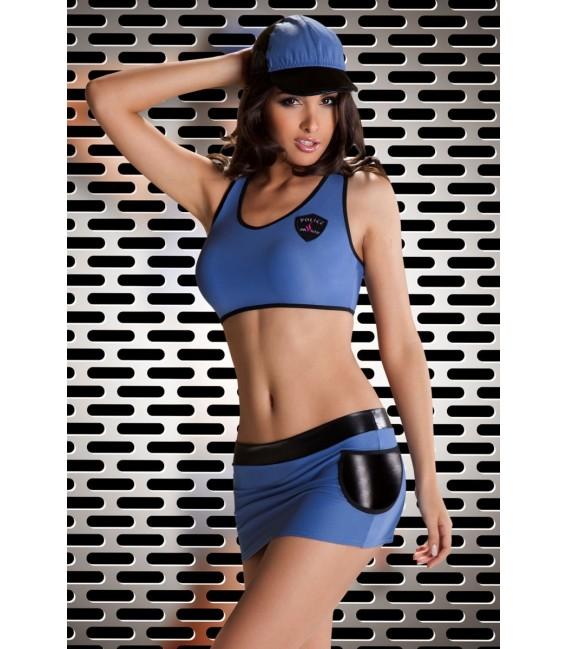 Polizei Outfit Police Woman Großbild
