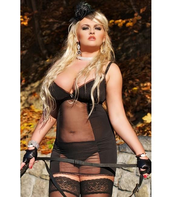 schwarz transparentes Kleid S/3028 Domina von Andalea Dessous Großbild