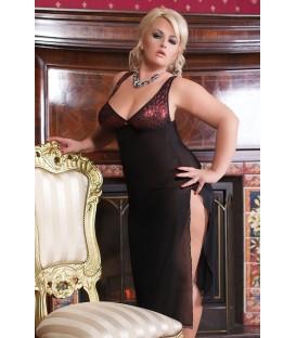 schwarzes transparentes Kleid S/3001 Dolores von Andalea Dessous