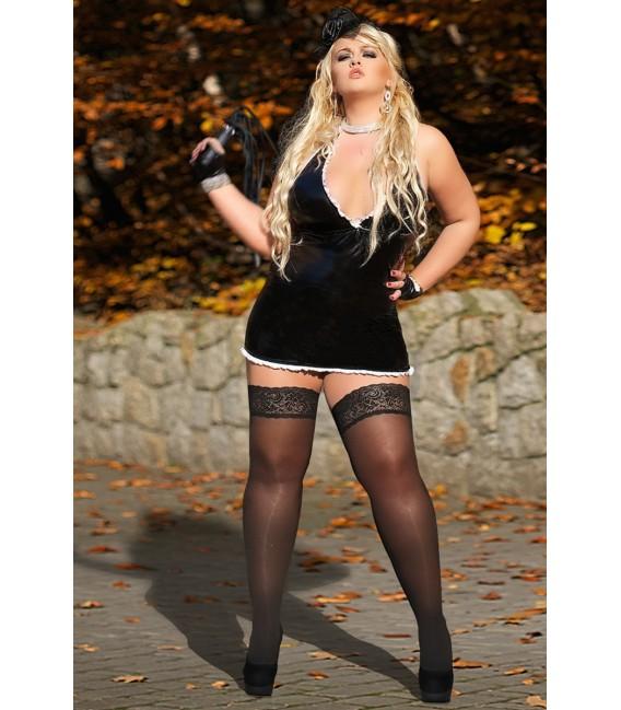 schwarzes Wetlook-Kleid S/3029 Edit von Andalea Dessous Großbild