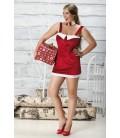 rotes Weihnachtskleid Caramella, mit Rückenschnürung von Andalea Dessous
