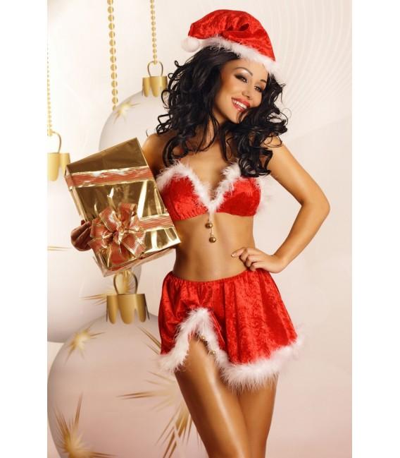 rotes Weihnachtsoutfit Snowflake von Lolitta Dessous Großbild