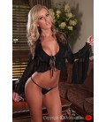 schwarzes Bolero Set Beyond Heart mit String von Provocative Dessous