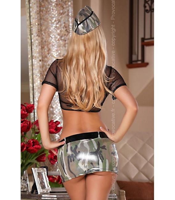 6-teiliges Militär Outfit Soldier Girl Set von Provocative Kostüm