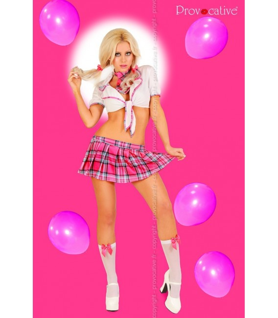 5-teiliges Schulmädchen Outfit Miss Lolita von Provocative Dessous Großbild