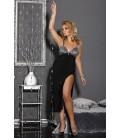schwarzes langes Abendkleid M/1008 Dea von Andalea Dessous