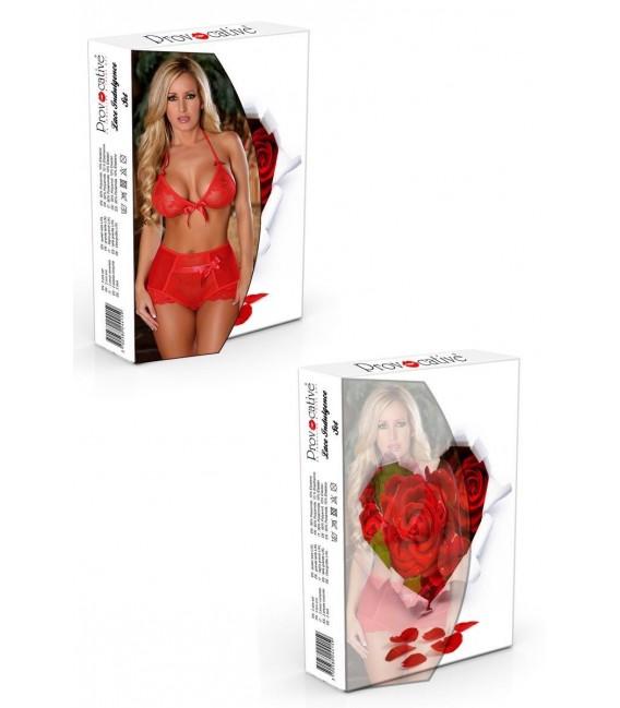 roter Frauenbody aus Spitze von Provocative Dessous Großbild