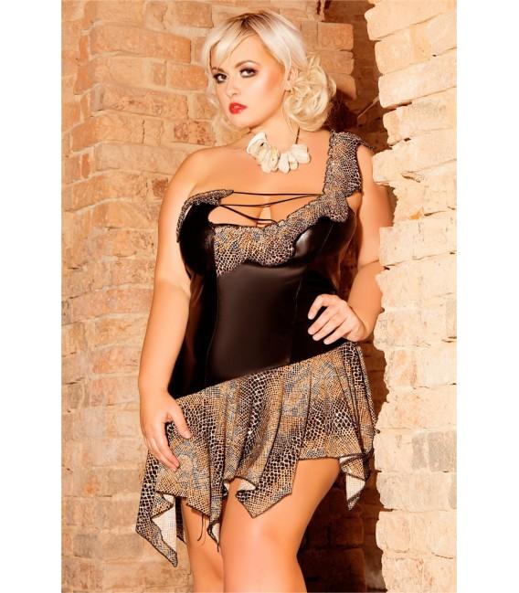 schwarzes Nachtkleid S/3039 Wilma von Andalea Dessous Großbild