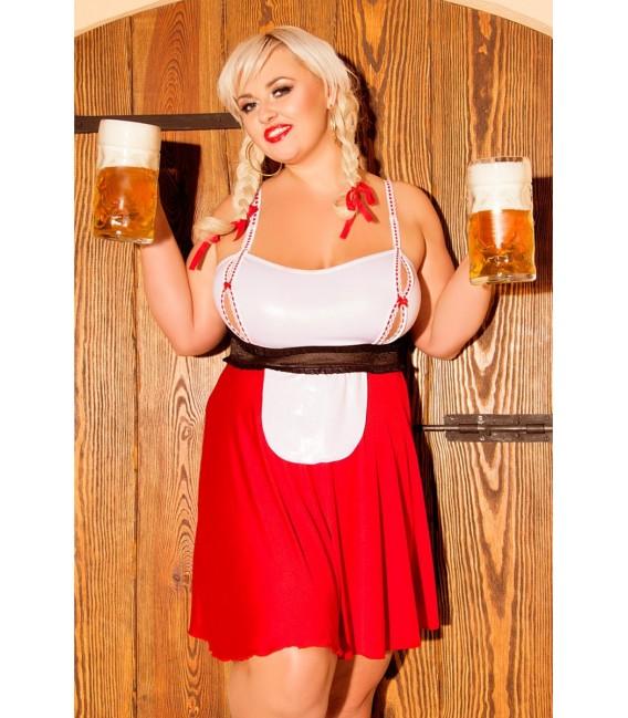 rot/weißes Trachten Outfit S/3041 Heidi von Andalea Dessous Großbild