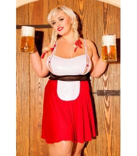 rot/weißes Trachten Outfit S/3041 Heidi von Andalea Dessous