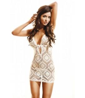 ecru Netz-Kleid Rio von Hamana Dessous