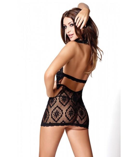 schwarzes Netz-Kleid Rio von Hamana Dessous Großbild