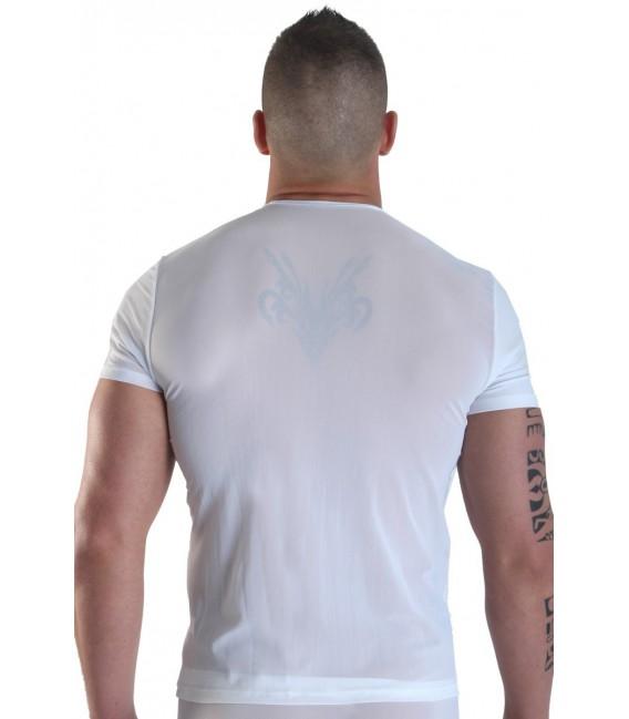 weißes Herren T-Shirt Open Heart von Look Me