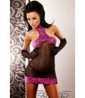 schwarz pinkes Minikleid Satisfaction von Lolitta Dessous
