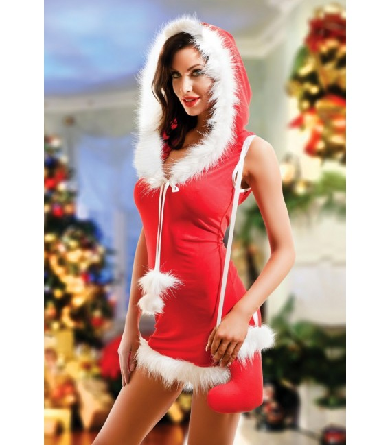 rotes Christmas Outfit Santa von Hamana Dessous Großbild