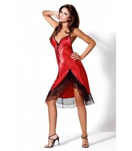 langes rotes Kleid Carmen von Hamana Dessous