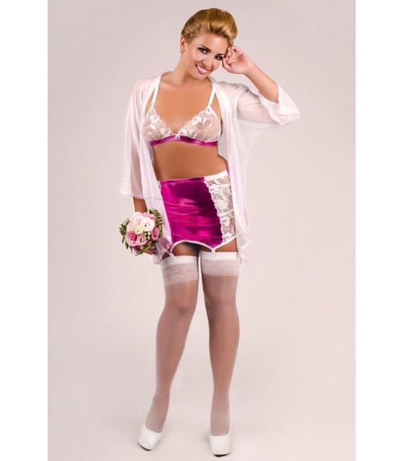 4-teiliges Set M/1036 in weiß/pink von Andalea Dessous