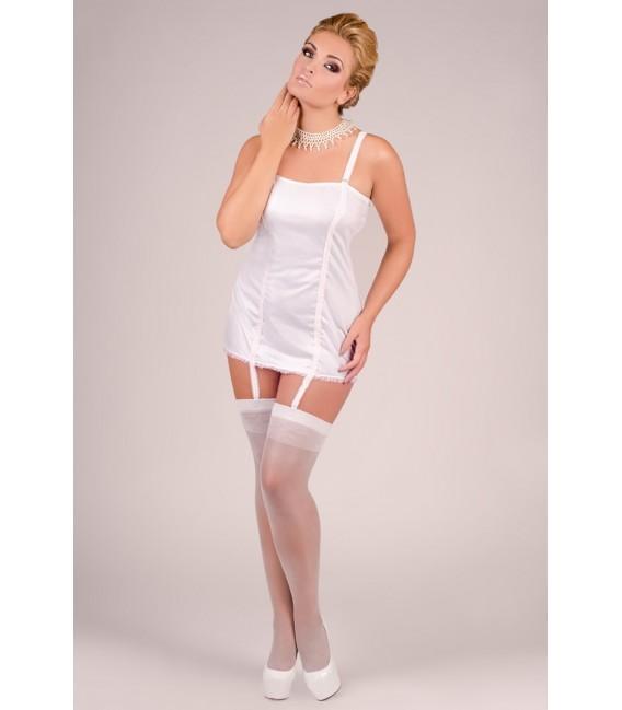weißes Strapskleid M/1040 von Andalea Dessous Großbild