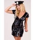 schwarzes Polizei-Outfit M/1045 von Andalea Dessous