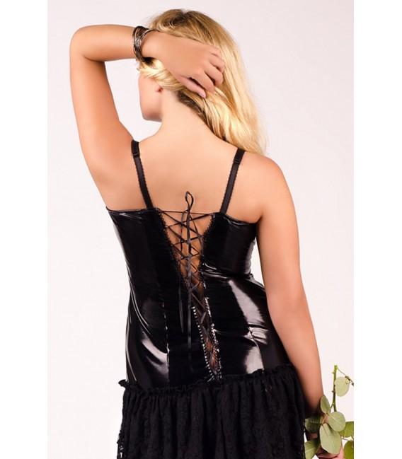 schwarzes langes Kleid M/1023 von Andalea Dessous Großbild