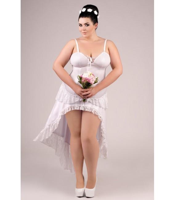weißes langes Kleid E/2020 von Andalea Dessous Großbild