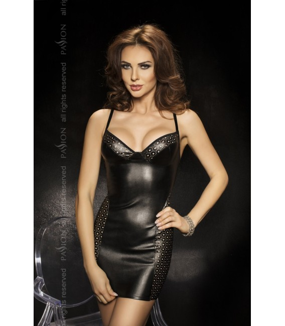 schwarzes Nachtkleid Kimbra mit T-String von Passion Second Skin Großbild