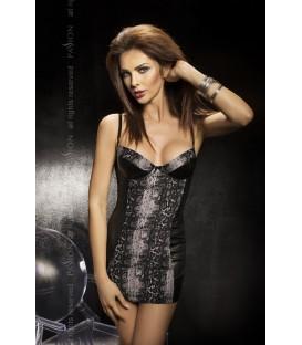 schwarzes Nachtkleid Bravuro mit T-String von Passion Second Skin