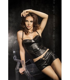 schwarzes Top-Panty-Set Verona von Passion Second Skin