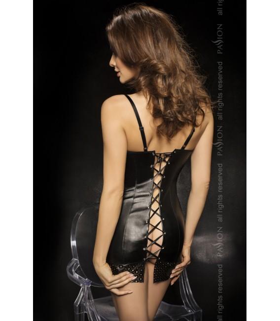 schwarzes Nachtkleid Oprah mit T-String von Passion Second Skin Großbild